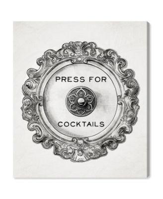 Press for Cocktails Canvas Art, 36