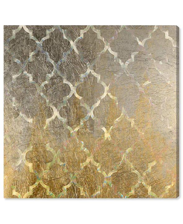 """Oliver Gal Arabesque Platinum Canvas Art, 36"""" x 36"""""""