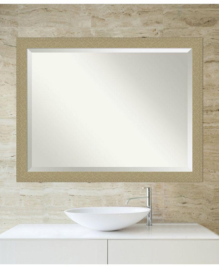 Amanti Art Mosaic Gold Tone Framed Bathroom Vanity Wall Mirror 44 25 X 34 25 Reviews All Mirrors Home Decor Macy S