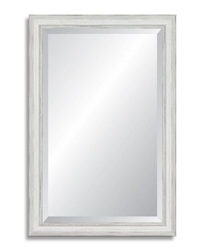 Reveal Frame & Décor - Farmhouse White Beveled Wall Mirror