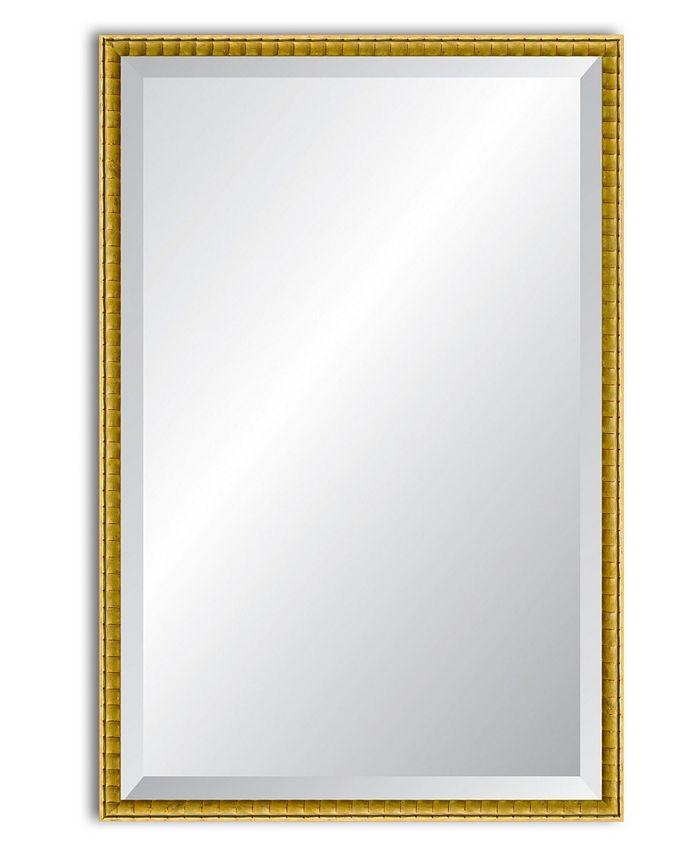 Reveal Frame & Décor - Golden Bamboo Beveled Wall Mirror