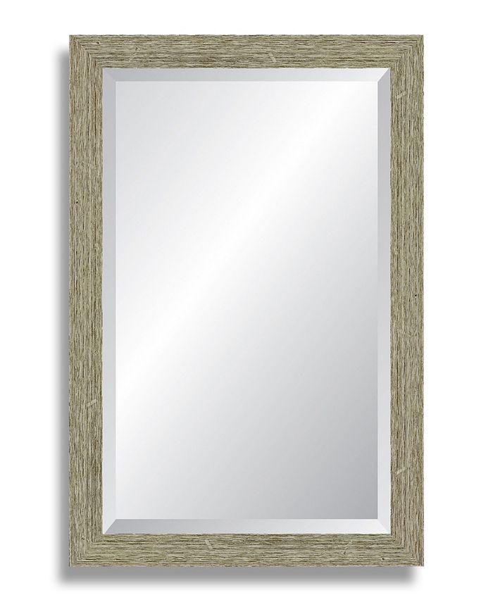Reveal Frame & Décor - Barnwood Gray Beveled Wall Mirror