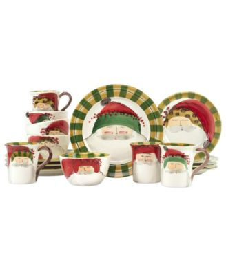 Old St. Nick Assorted 16-PC Dinnerware Set, Service for 4