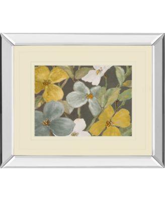 "Garden Party in Gray 2 by Lanie Loreth Mirror Framed Print Wall Art, 34"" x 40"""