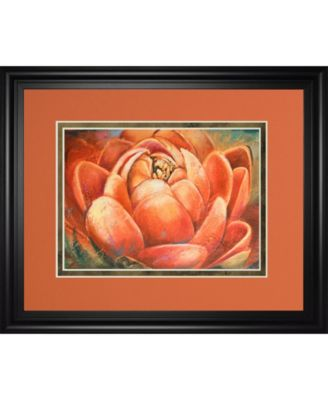 """Red Lotus II by Patricia Pinto Framed Print Wall Art, 34"""" x 40"""""""