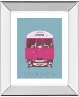 "London Transport 3 by Ben James Mirror Framed Print Wall Art, 22"" x 26"""