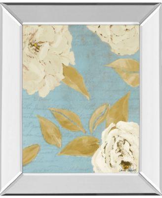 "Scripted Poetic Peonies I by Lanie Loreth Mirror Framed Print Wall Art, 22"" x 26"""