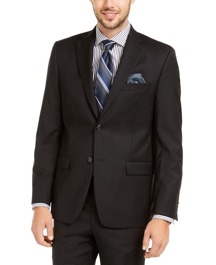 Lauren Ralph Lauren - Men's Slim-Fit UltraFlex Stretch Black Solid Suit Jacket