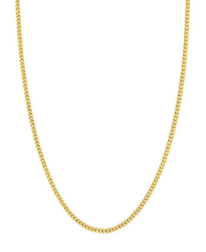 "Macy's - 14K Yellow Gold Diamond Cut 1.85 mm Franco 22"" Chain"