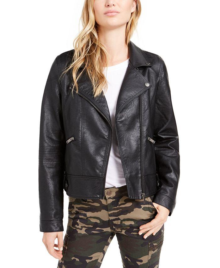 OAT - Faux-Leather Moto Jacket