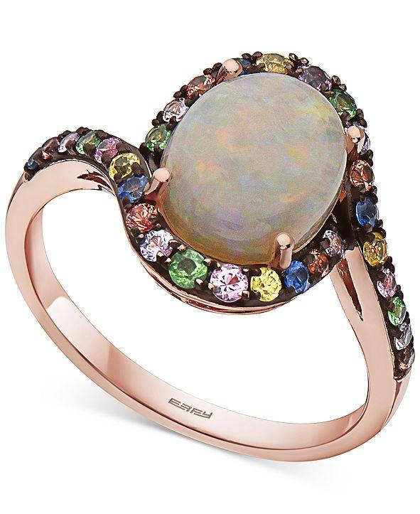 EFFY Collection EFFY® Multi-Gemstone Statement Ring (3-3/8 ct. t.w.) in 14k Rose Gold