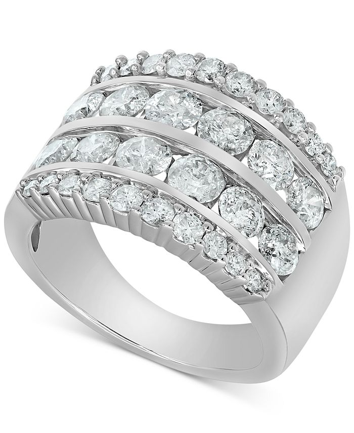 Macy's - Diamond Multi-Row Band (3 ct. t.w.) in 14k White Gold