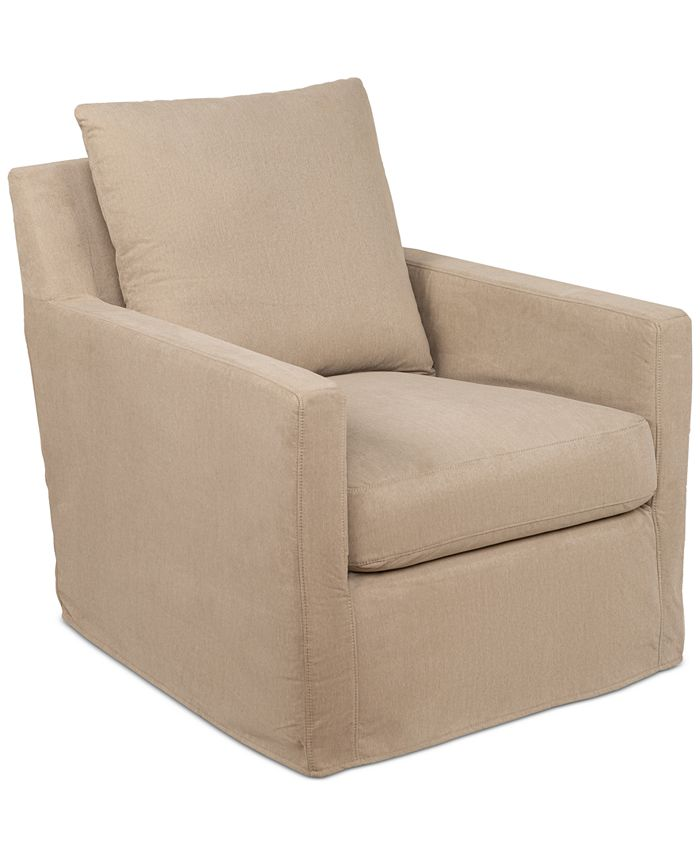 Furniture - Brenalee Fabric Swivel Glider Slipcover