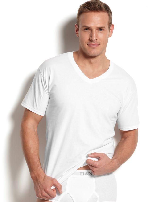 Hanes - Men's Underwear, V-Neck T-Shirt 5 Pack