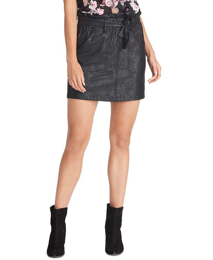 RACHEL Rachel Roy - Keni Snake-Embossed Pull-On Skirt