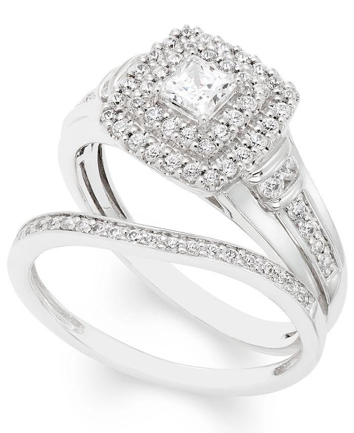 Macy's - Certified Diamond (3/4 ct. t.w.) Bridal Set in 14k White Gold
