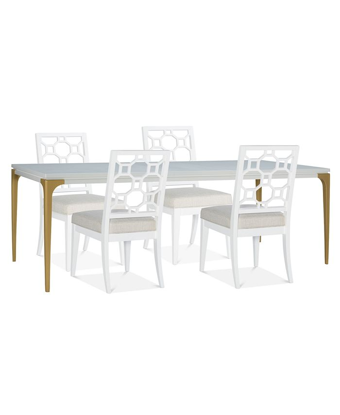 Furniture - Chelsea Expandable Dining , 5-Pc. Set (Table & 4 Side Chairs)