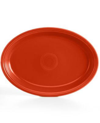 "Fiesta Paprika 19"" Oval Serving Platter"