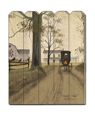 Headin Home by Billy Jacobs, Printed Wall Art on a Wood Picket Fence, 16