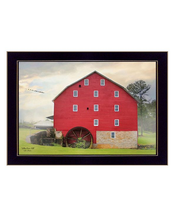 "Trendy Decor 4U Willow Grove Mill By Lori Deiter, Printed Wall Art, Ready to hang, Black Frame, 20"" x 14"""