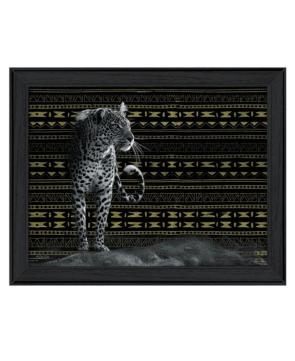 "Trendy Decor 4U Patterned Leopard By Dee Dee, Printed Wall Art, Ready to hang, Black Frame, 18"" x 14"""