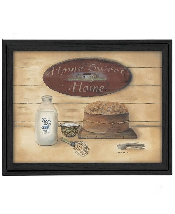 "Trendy Decor 4U Home Sweet Home By Pam Britton, Printed Wall Art, Ready to hang, Black Frame, 19"" x 15"""