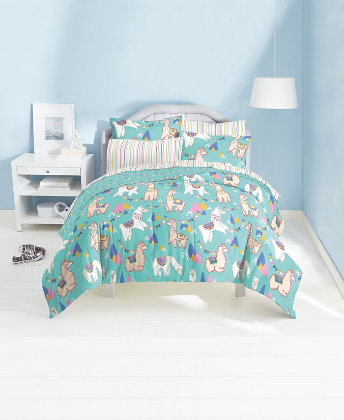 Dream Factory - Llamas 7-Piece Full Bedding Set
