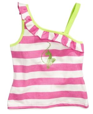 Baby Phat Kids Shirt Girls Striped AsymmetricalShoulder Top