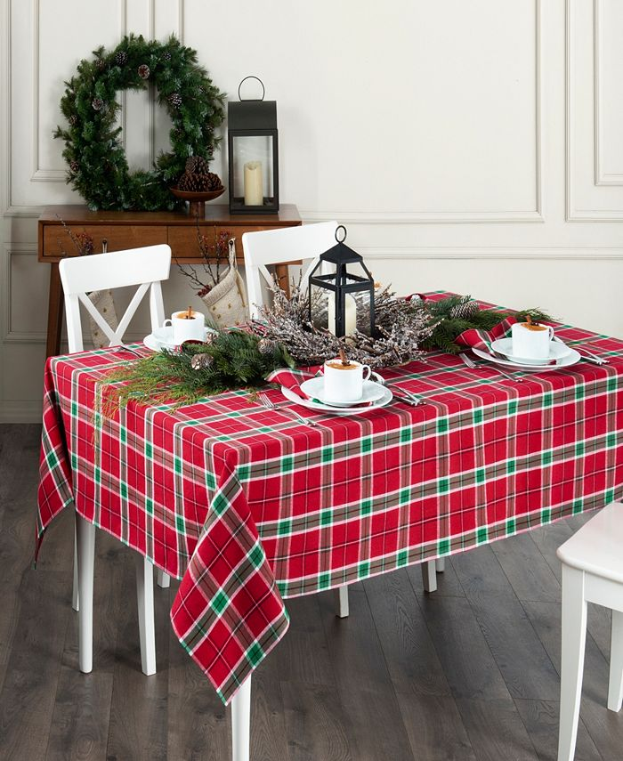 Elrene - Home For the Holidays Plaid Tablecloth