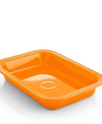 "Fiesta Tangerine 9"" x 13"" Rectangular Baker"