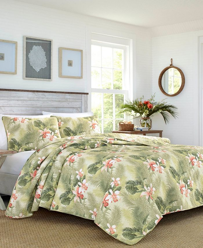 Tommy Bahama Home - Tropical Orchid Full/Queen Quilt Sham Set
