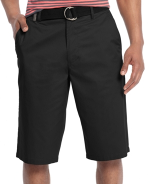 Sean John Shorts Classic Flat Front Shorts