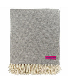 Southampton Home Basket Weave Merino Wool Throw