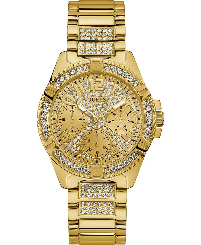 GUESS - Women's Lady Frontier Gold-Tone Stainless Steel Bracelet Watch 40mm