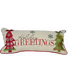 """Manor Luxe Happy Holiday Pillow Collection, 18"""" x 8"""""""