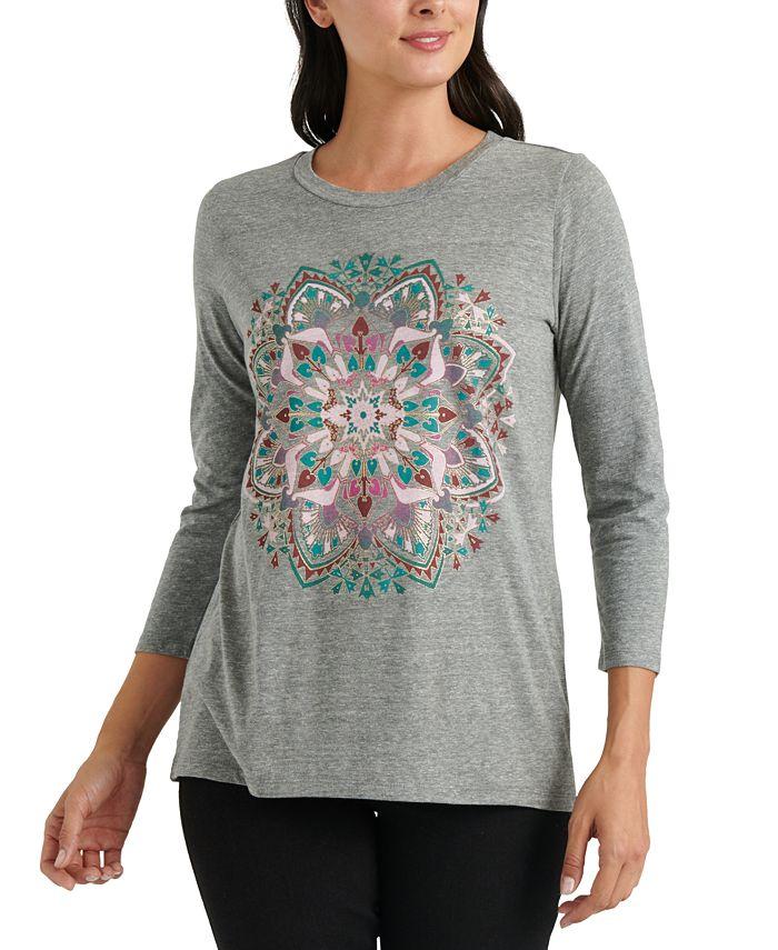 Lucky Brand - Mandala 3/4-Sleeve T-Shirt