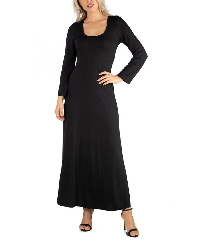 Women's Long Sleeve T-Shirt Maxi Dress