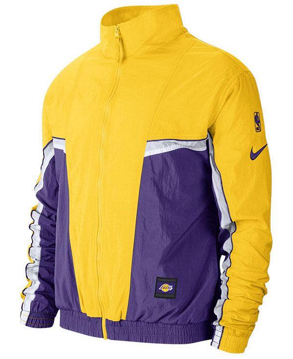 Nike Men's Los Angeles Lakers Courtside Tracksuit Jacket