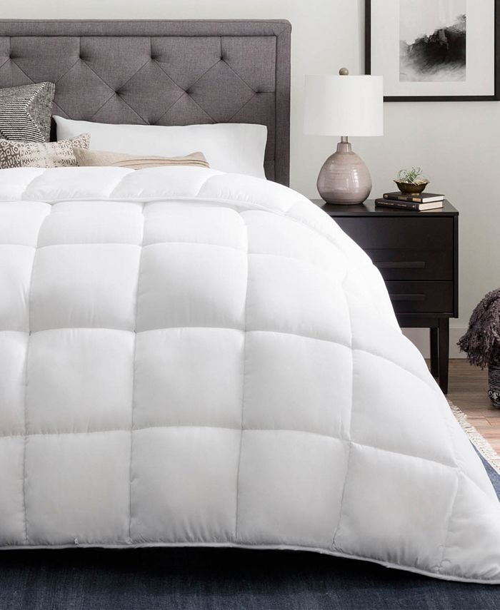 Brookside - Down Alternative Quilted Comforter with Duvet Tabs, Oversized Queen