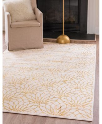 Glam Mmg003 White/Gold 4' x 6' Area Rug