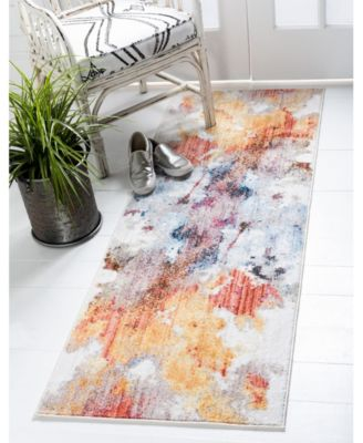 West Village Downtown Jzd002 Multi 9' x 12' Area Rug