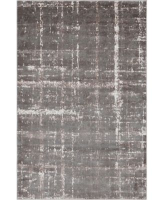 Lexington Avenue Uptown Jzu003 Gray 4' x 6' Area Rug