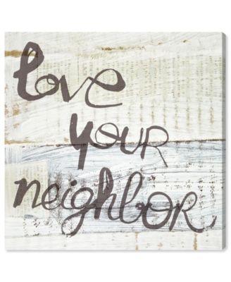 Love Your Neighbor Canvas Art, 12