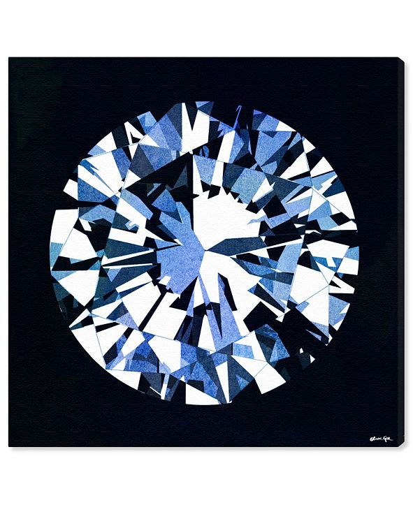 """Oliver Gal Diamonds Are Forever Canvas Art, 43"""" x 43"""""""