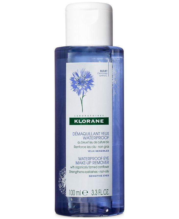Klorane - Waterproof Eye Make-Up Remover With Organically Farmed Cornflower, 3.3-oz.