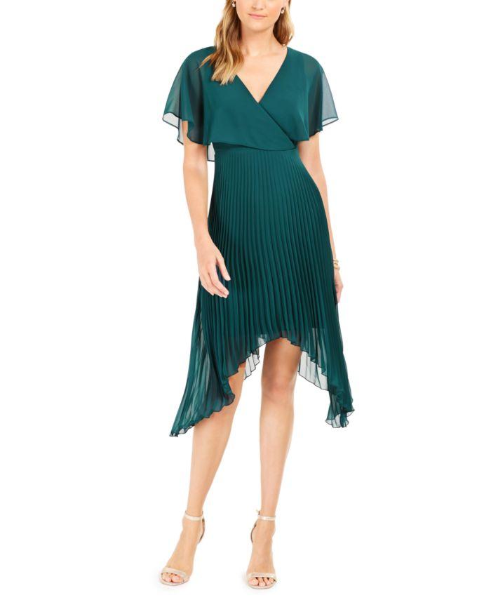 Kensie Chiffon Pleated Dress & Reviews - Dresses - Women - Macy's
