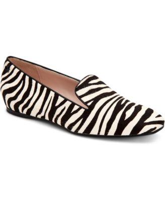 Hanna Zebra-Print Calf-Hair Flats