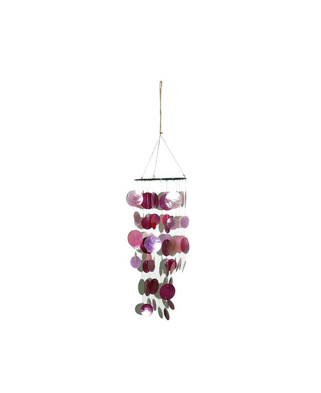 Trans Pac Pink Easter Round Capiz Bright Desert Chime