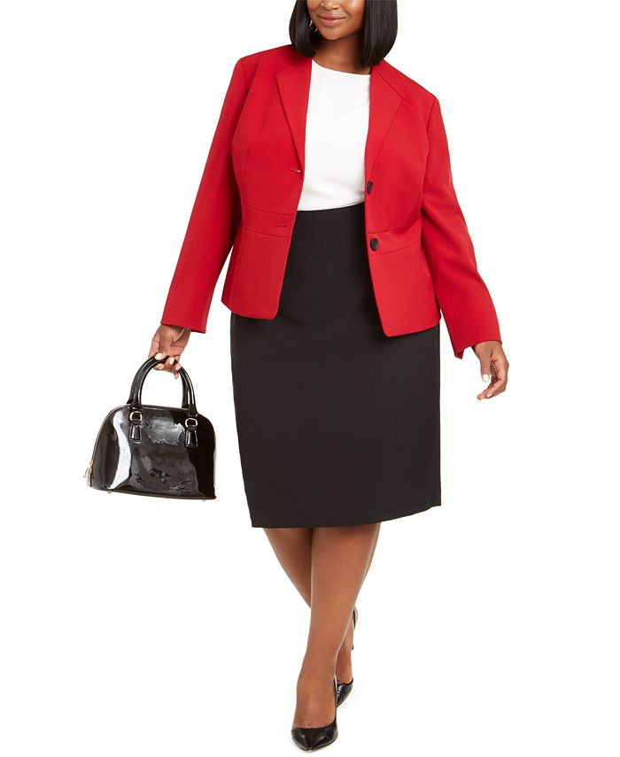 Le Suit - Plus Size Pencil Skirt Suit