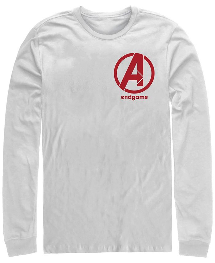 Marvel Men S Avengers Endgame Left Chest Logo Long Sleeve T Shirt Reviews T Shirts Men Macy S